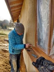 Finishing the edges of the windows