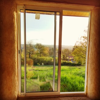 A freshly plastered feature window