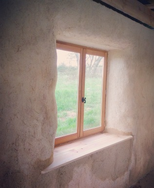 A newly plastered window