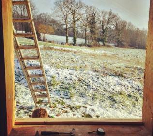 Fitting the final window in sub-zero temperatures