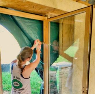 Fitting the final door - the main door
