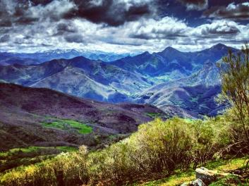 A view out over the Picos De Europa
