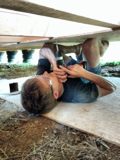 Finding novel ways to hold in place the wood you are attaching