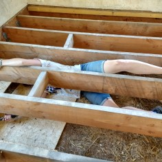 Spoon the joist...Thank goodness for Yoga!