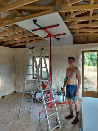 It was super hot when we started the ceiling - over 40C outside