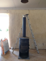Preparing for our fire stove installation